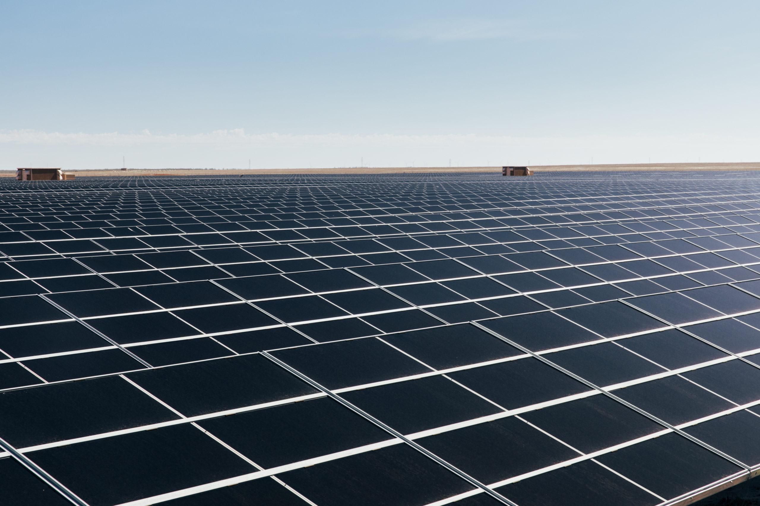 Rows of solar panels in regional WA