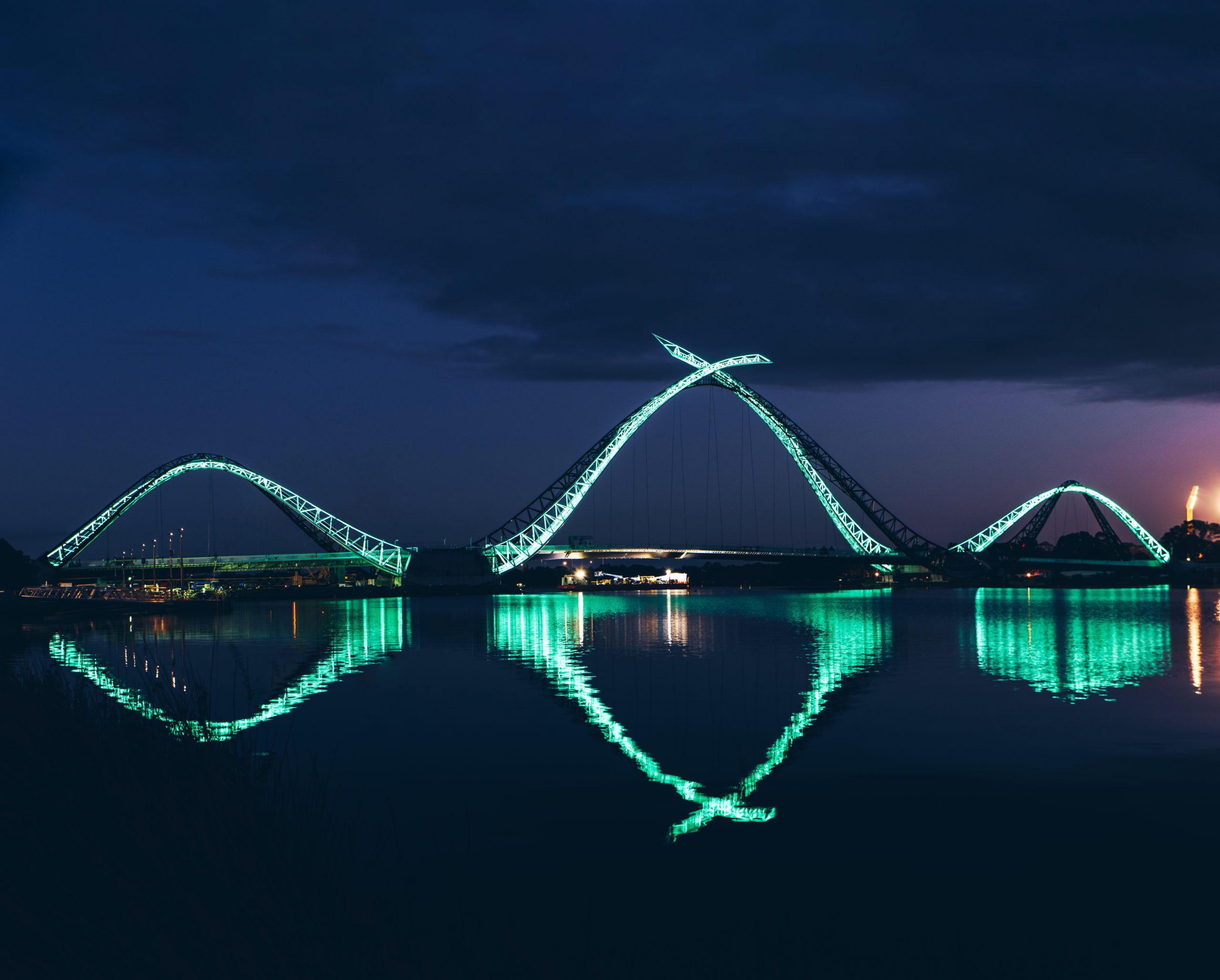 Matagarup Bridge at night, Perth WA